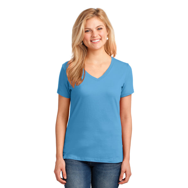Port & Company Ladies Core Cotton V-Neck Tee
