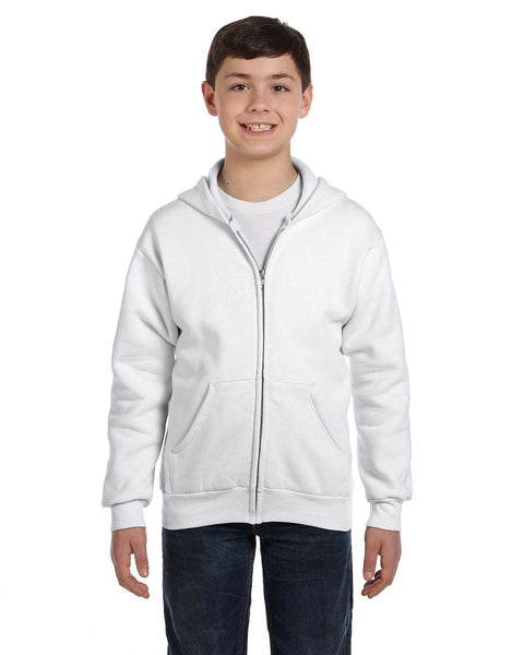 Hanes Youth EcoSmart Full-Zip Hooded Sweatshirt