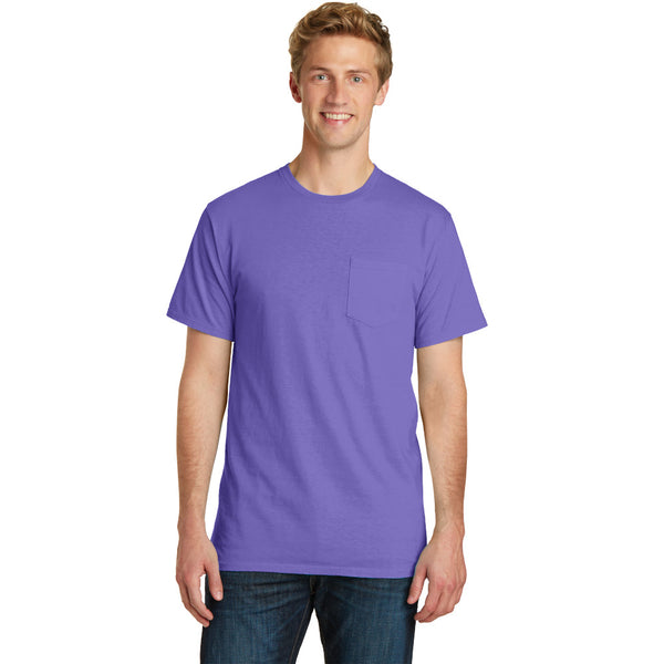 Port & Company Beach Wash Garment-Dyed Pocket Tee