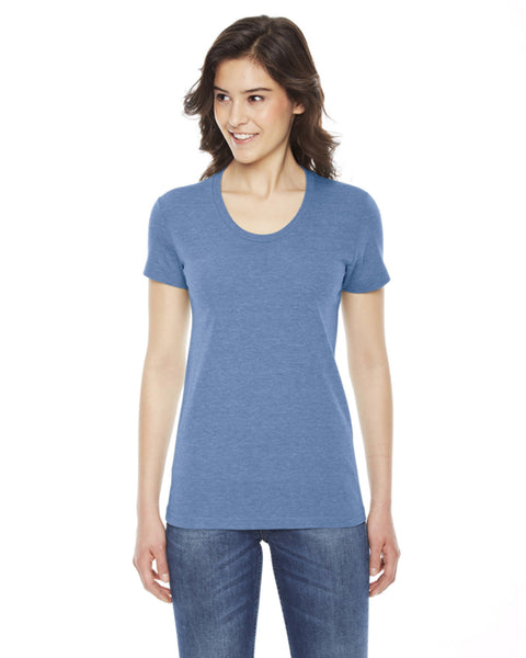 American Apparel Ladies Triblend Short Sleeve Track T-shirt