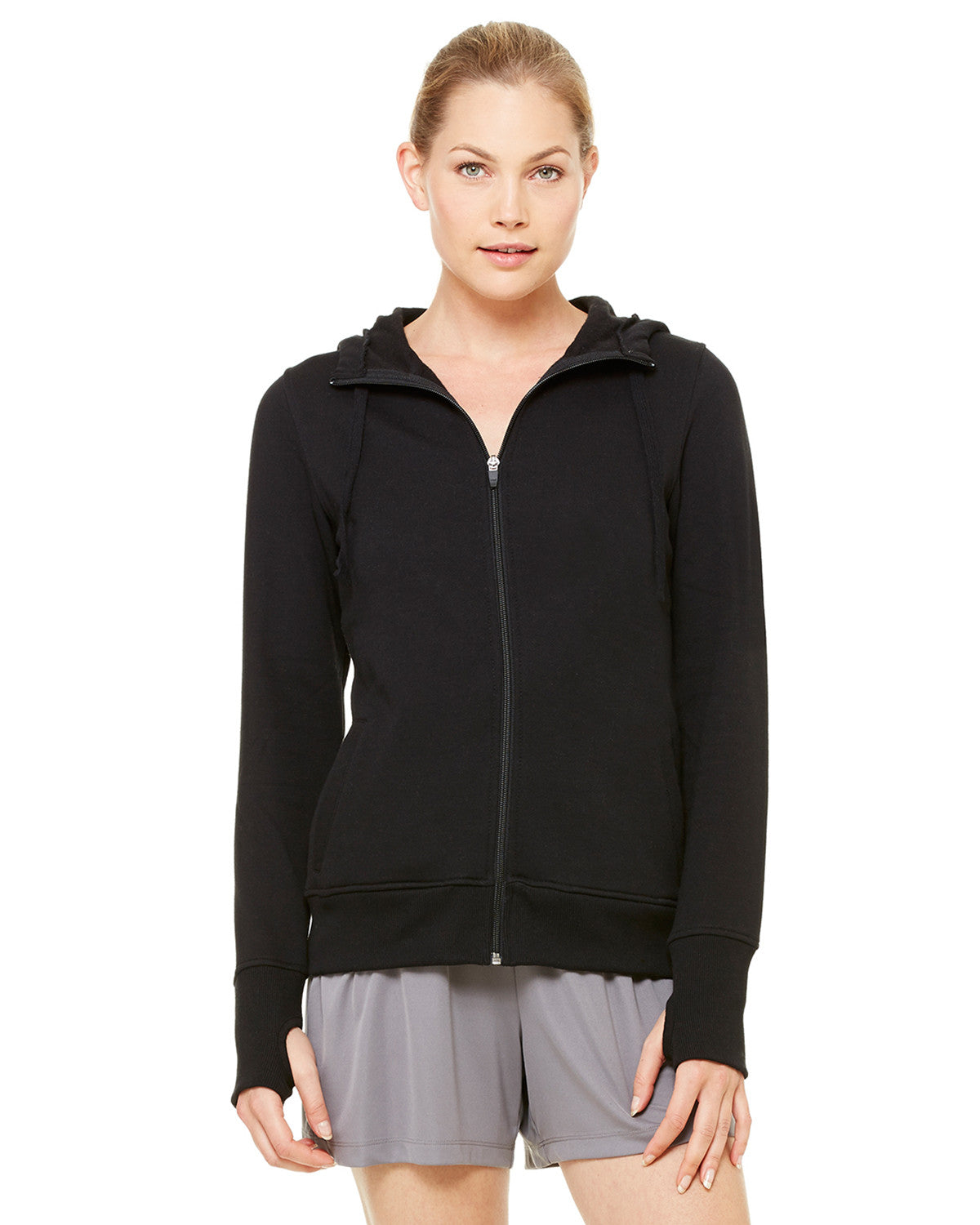 Ladies Performance Fleece Hooded Full-zip