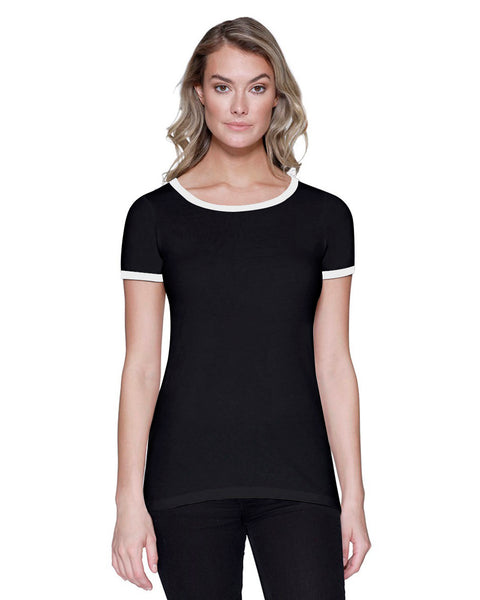 StarTee Ladies CVC Ringer T-Shirt