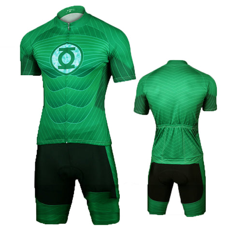 Green Lantern Set Bicycle Jersey The Flash Cycling Jersey+Short M-XL