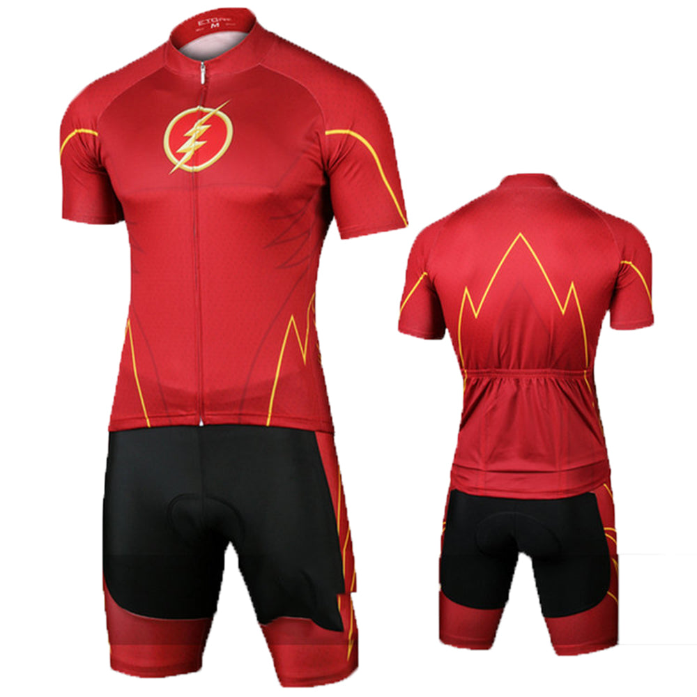The Flash Set Bicycle Jersey The Flash Cycling Jersey+Short M-XL