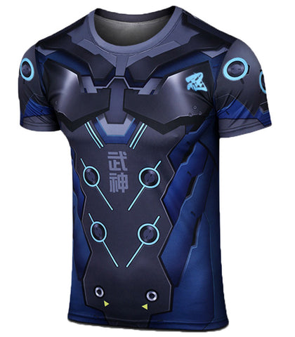 Men's OverWatch Genji T-shirt Carbon Black