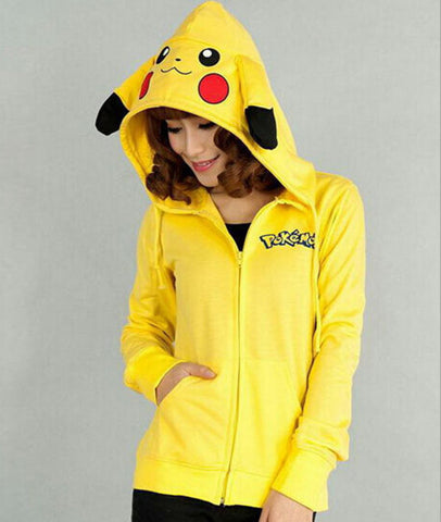 Womens Cute Pikachu Sweatshirt