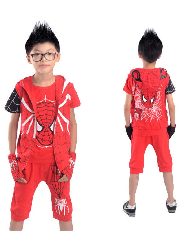 Kids Spider-Man Short Sleeve Suit