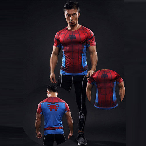 Men's Red Spider-Man Compression T-shirt