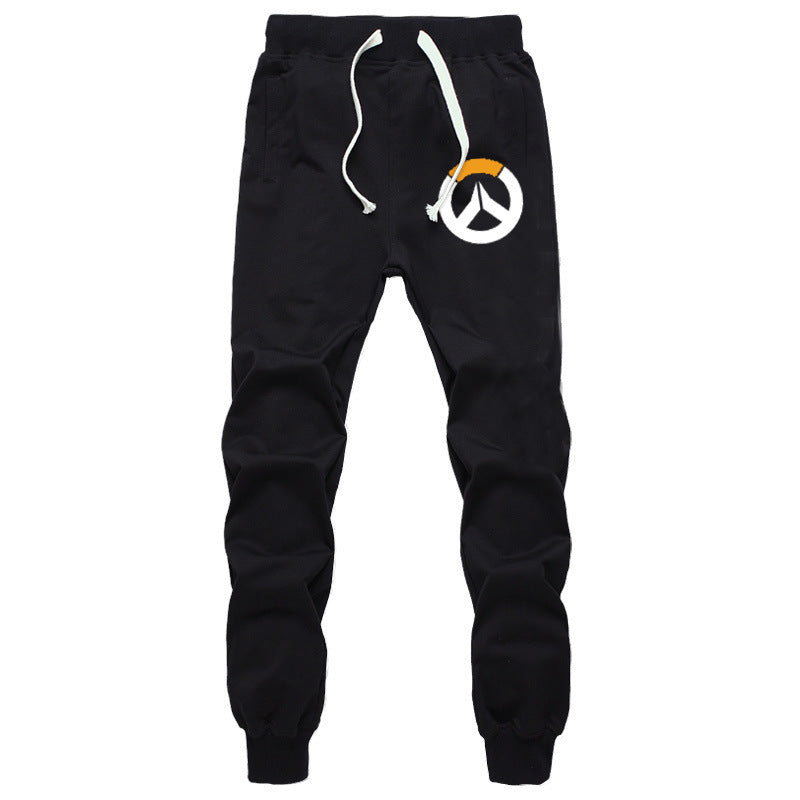 OverWatch Casual Sports Pants With Drawstring Elastic Waist