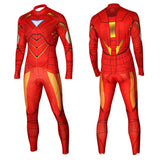 Iron Man Cycling Long Sleeve Jersey+Pants Man of Steel Bicycle Set Suit Sz S-3XL