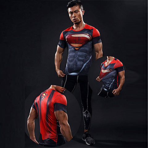 Men's Red Superman Compression T-shirt