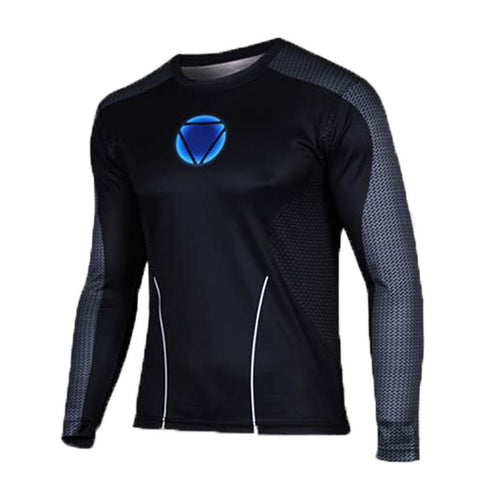 Men's Black Iron Man Long Shirt