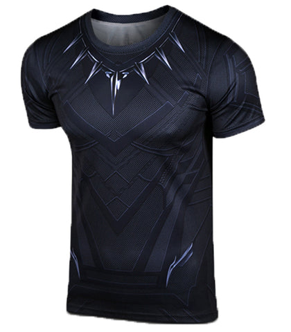 Men's Captain America Civil War Black Panther T-shirt