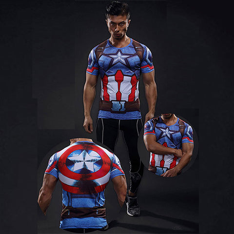 Men's Captain America Compression T-shirt