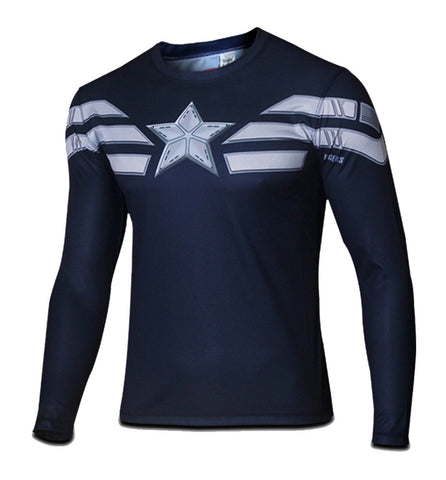 Men's Winter Soldier Captain America Long T-shirt