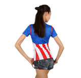 Women Captain America Compression T-shirt