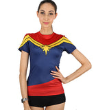 Women Captain Marvel Compression T-shirt