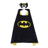 Party Superheros Cape and Mask for Kids, Reversible Satin Capes Dress up Costumes, 5 Sets