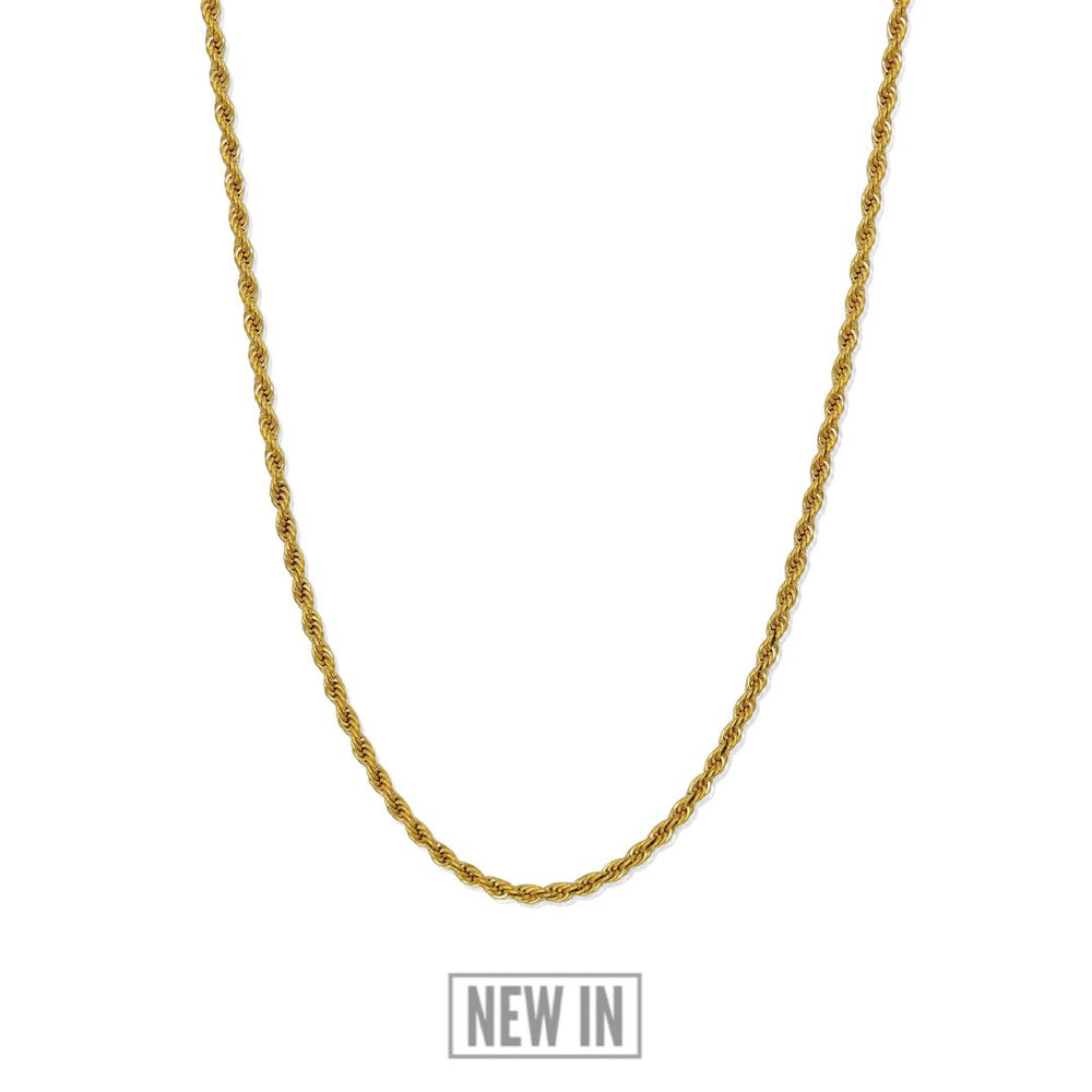 Gold Rope Chain - Our 24KT Gold Plated Rope Chain Features our Signature Rope Chain and RG&B Logo. The Perfect Gold Piece for any wardrobe.