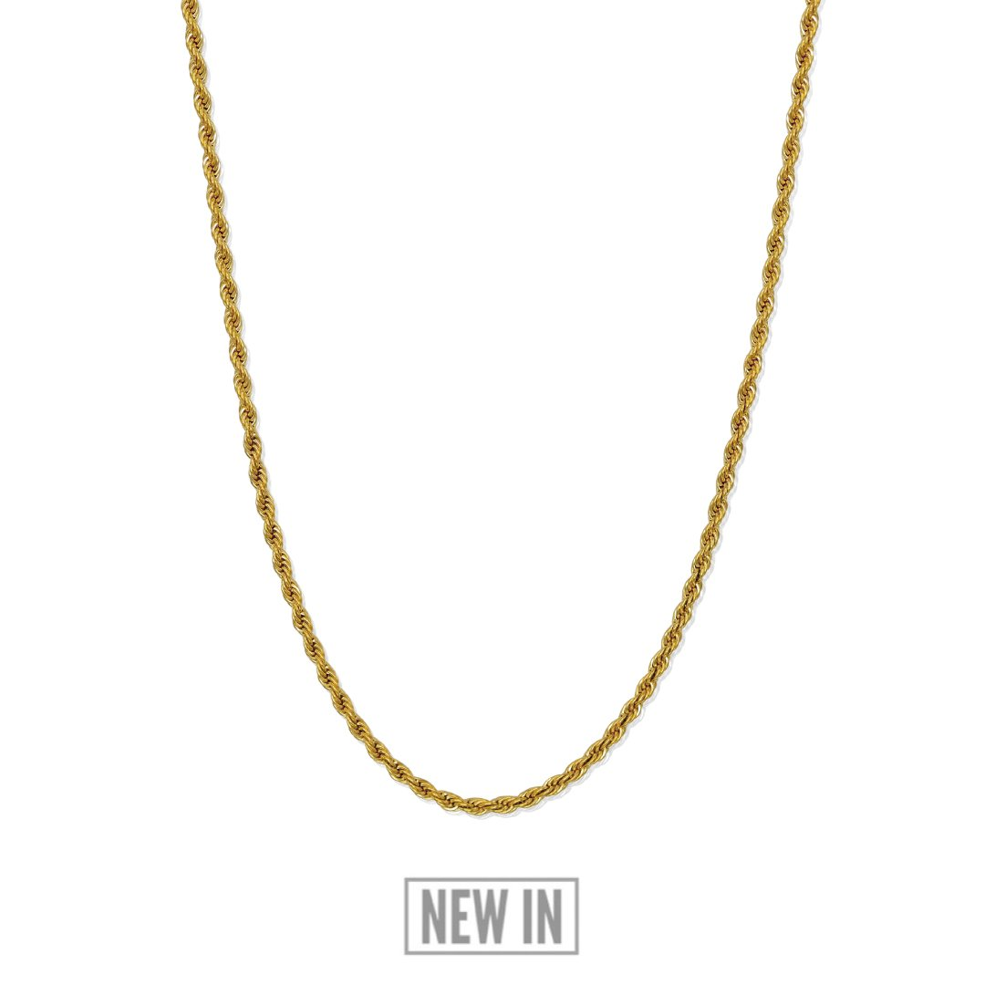 Rope Chain   24 Kt Gold Plated by Rose Gold & Black