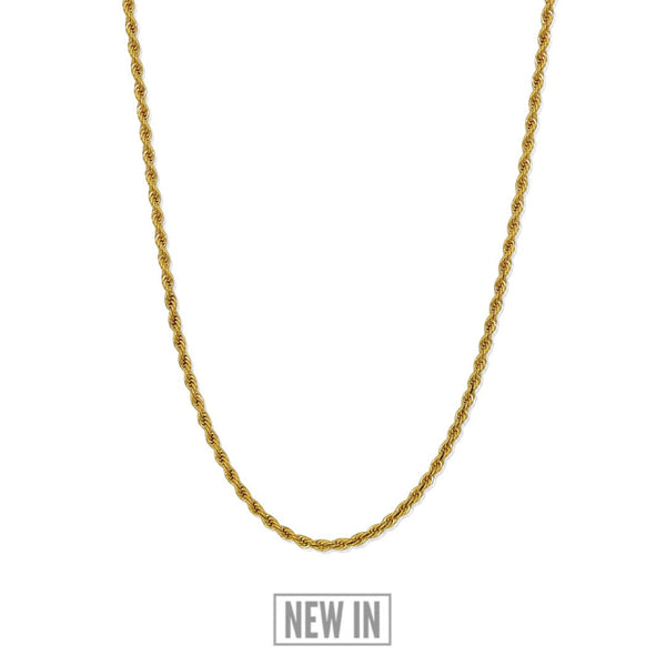Rope Chain - 24KT Gold Plated