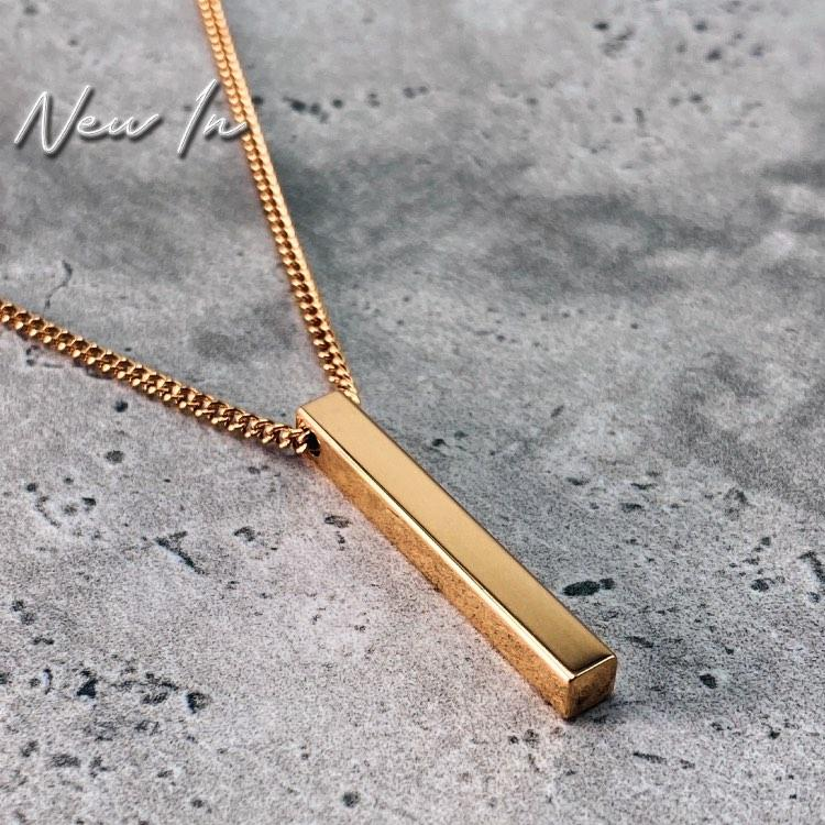 Minimal Bar Necklace - 24KT Gold Plated