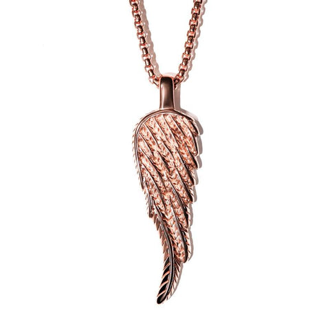 Angel Wing Necklace - RoseGold