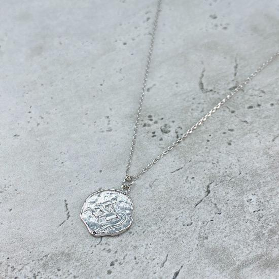 Star Sign Coin Necklace - Aquarius