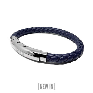 Woven Adjustable Single - Silver & Navy Teaching Mens Fashion