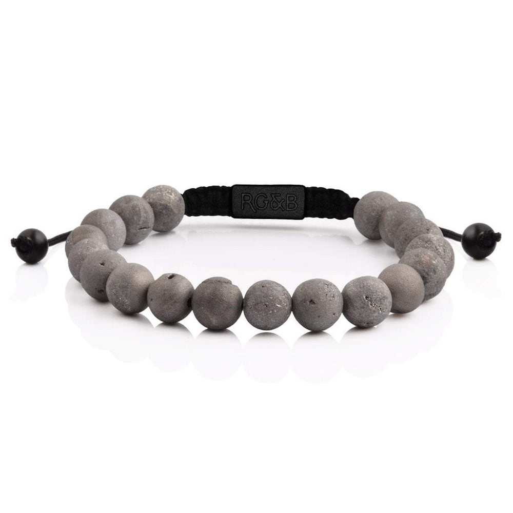 Smile Agate Bead Bracelet - All Black Rose Gold and Black Teaching Mens Fashion