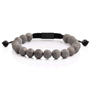 Smile Agate Bead Bracelet - All Black Rose Gold and Black