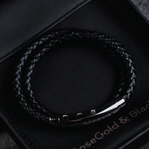 Woven Adjustable Double - Silver & Black