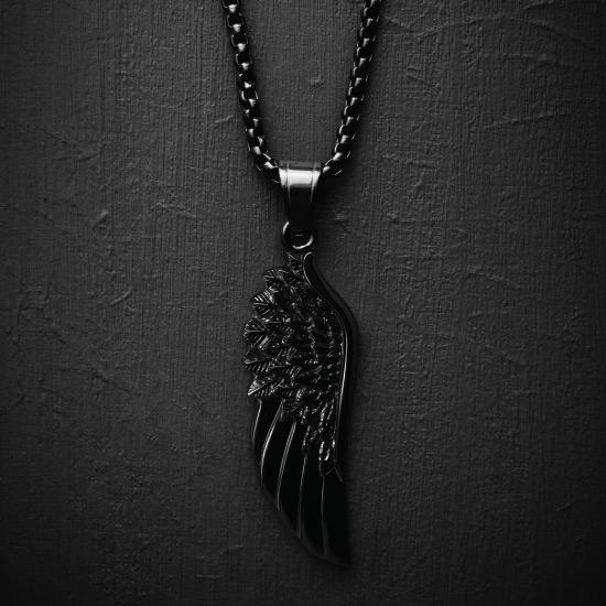 Wing Necklace - All Black