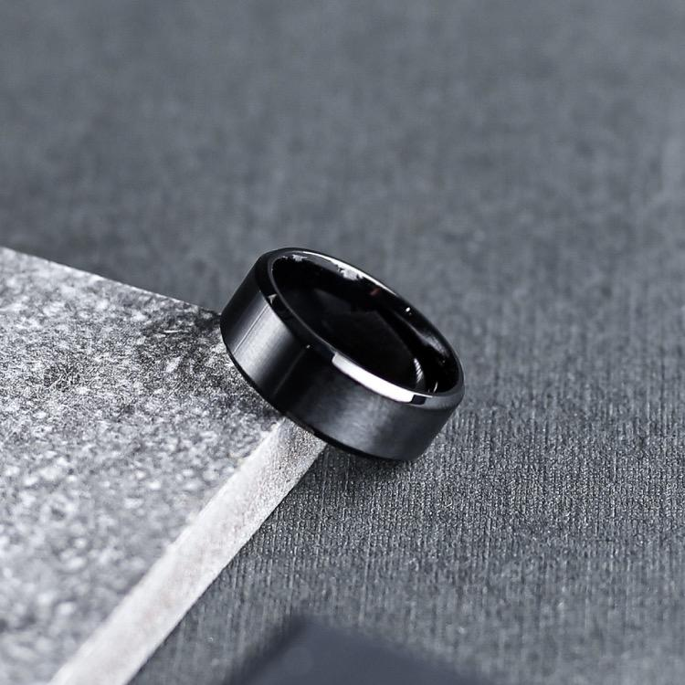 Black Men's Ring - Our Signature Minimal Black Ring has been crafted to be worn on a day-to-day basis or even on a night out.