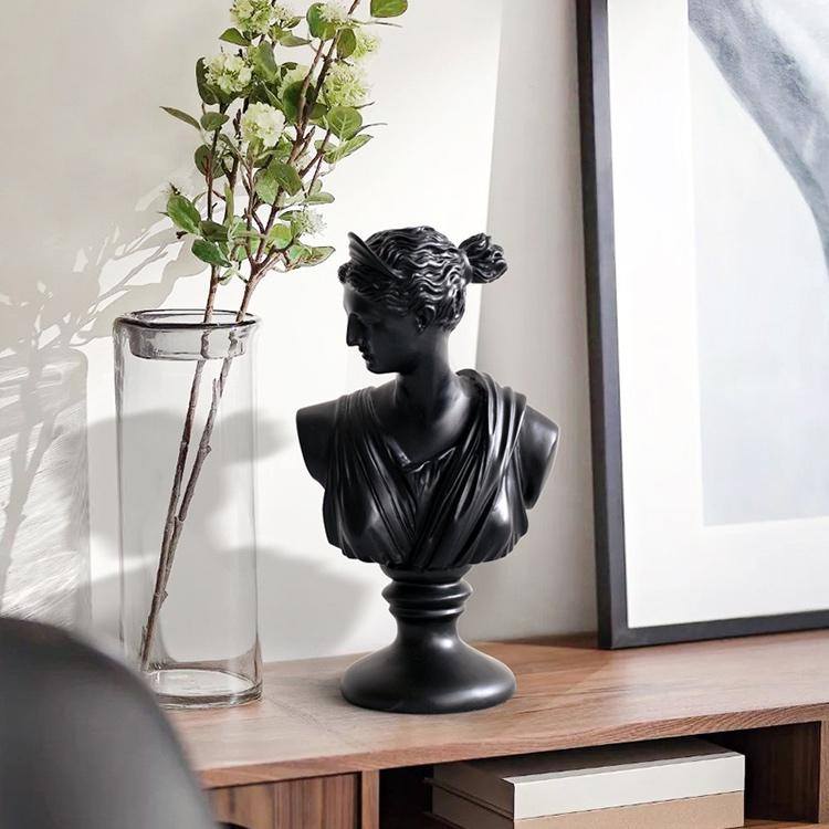 Black Venus Bust Sculpture (19 inches/ 50cm)