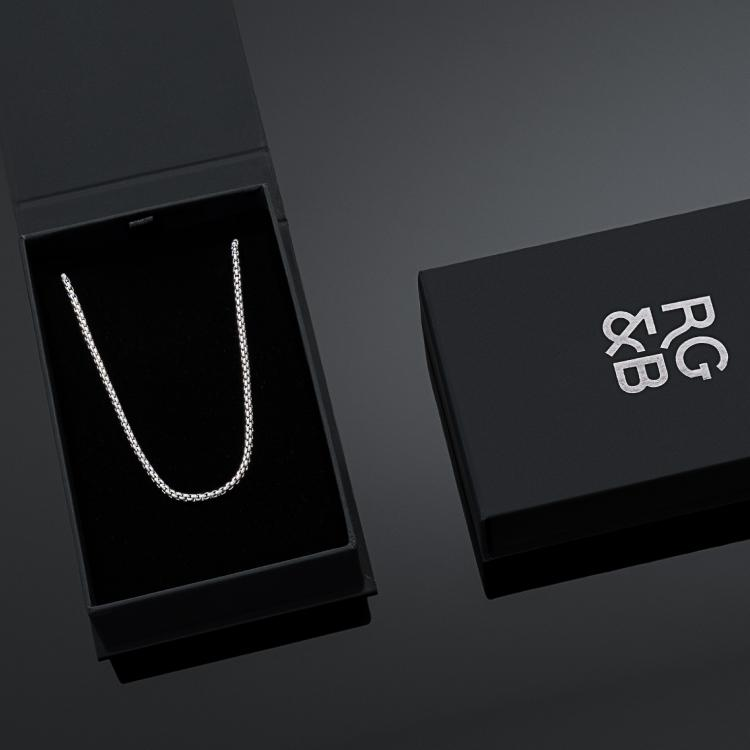 Minimal Silver Box Chain - Necklace