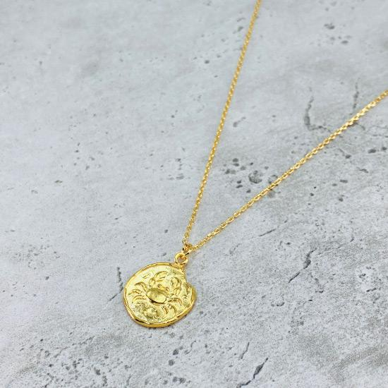 Star Sign Coin Necklace - Cancer