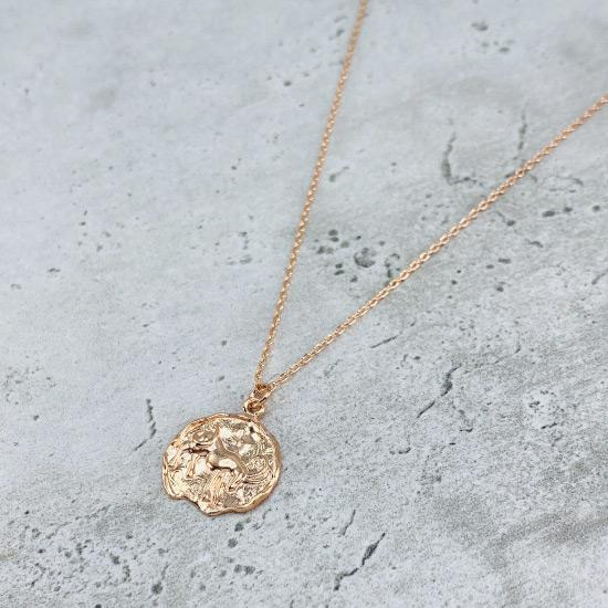 Star Sign Coin Necklace - Capricorn