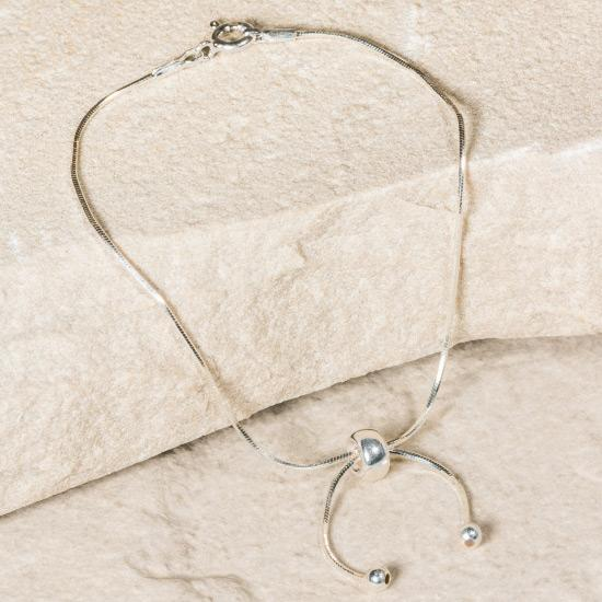 Women's Sterling Silver Bracelet - Our finely crafted solid 925 sterling silver adjustable bracelet. The bracelet is designed and manufactured to the finest degree to create the smoothest possible bracelet that can be adjusted micro-adjusted to create the perfect fit.