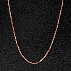 Minimal Rose Gold Box Chain