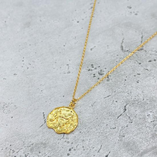 Star Sign Coin Necklace - Gemini