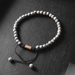 Minimal Collection - Grey Jasper Stone Bead Bracelet
