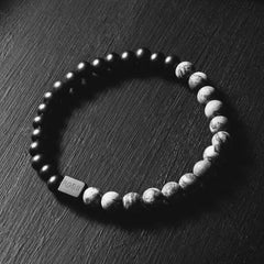 Black Collection - Grey Jasper Stone Bracelet (6mm)