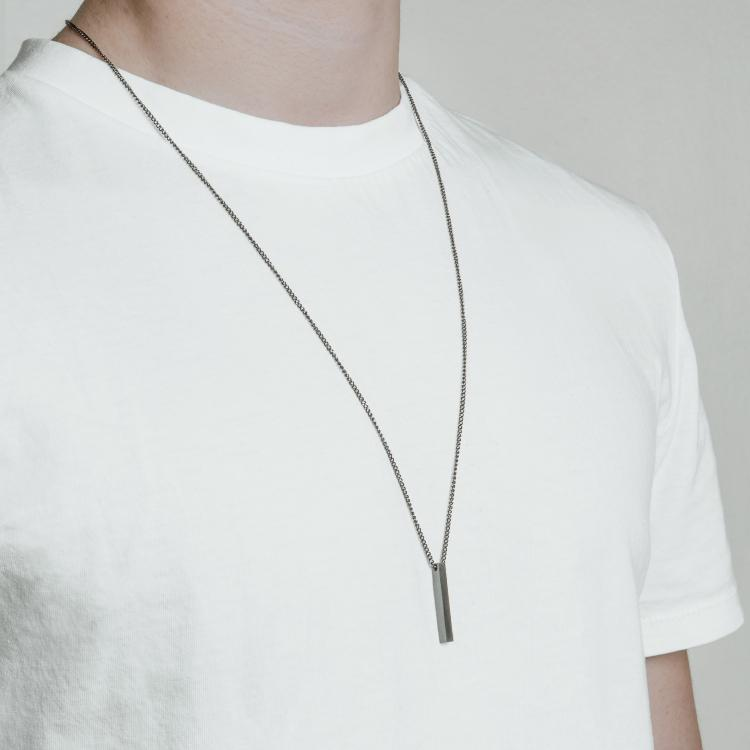 Gunmetal Bar Necklace - Our Signature Minimal Bar Necklace in Gunmetal has been crafted with minimalist styling in mind. An essential piece for any wardrobe.