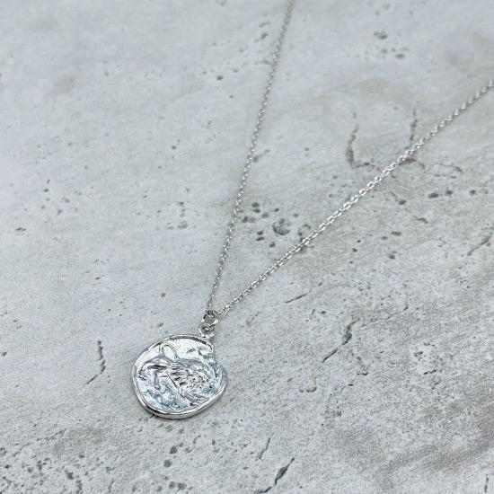 Star Sign Coin Necklace - Leo