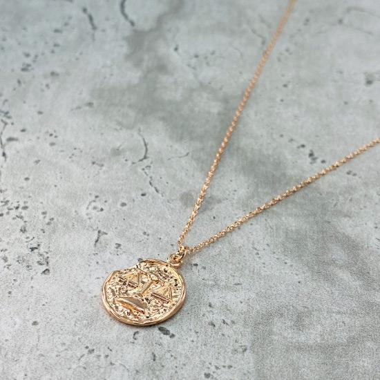 Libra Star Sign Necklace - Fine chain necklace featuring a delicate star sign pendant. Birth date September 23 - October 22 is for Libra. Available in Silver, Gold, and Rose Gold.