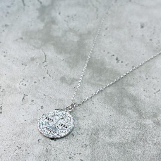 Star Sign Coin Necklace - Libra