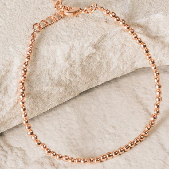 Rose Gold Micro Bead Bracelet - Finely handcrafted micro beads, fashioned and shaped by hand to create a minimal unique staple piece to any outfit, essential bracelet to add to any jewelry collection.