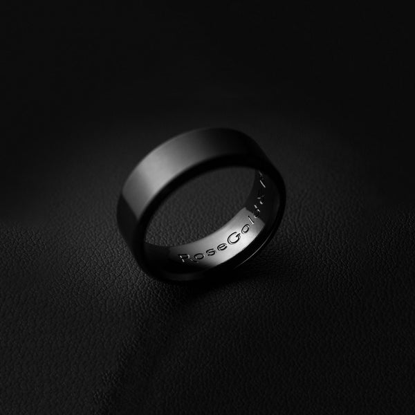 Minimal Ring in Brushed Black