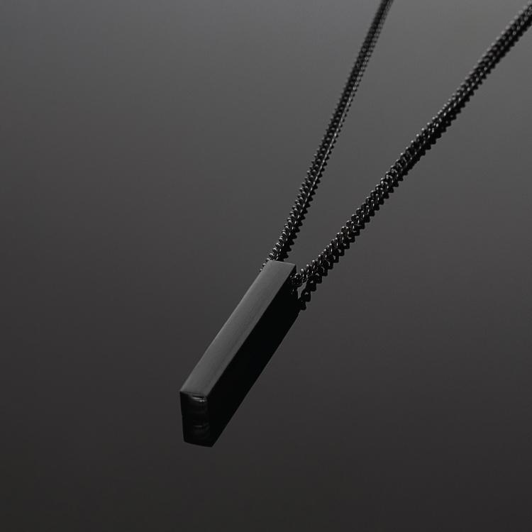 Black Bar Necklace - Our Signature Minimal Bar Necklace in All Black has been crafted with minimalist styling in mind. An essential piece for any wardrobe.